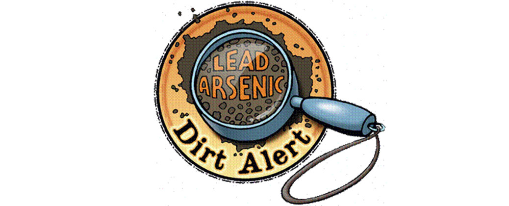 Dirt Alert Magnifying Glass Logo