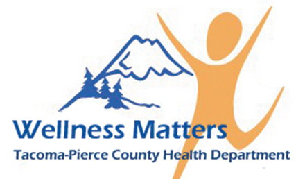 Health Department Wellness Matters logo; Wellness Matters Tacoma-Pierce County health Department