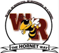White River High School logo with hornet mascot and phrase