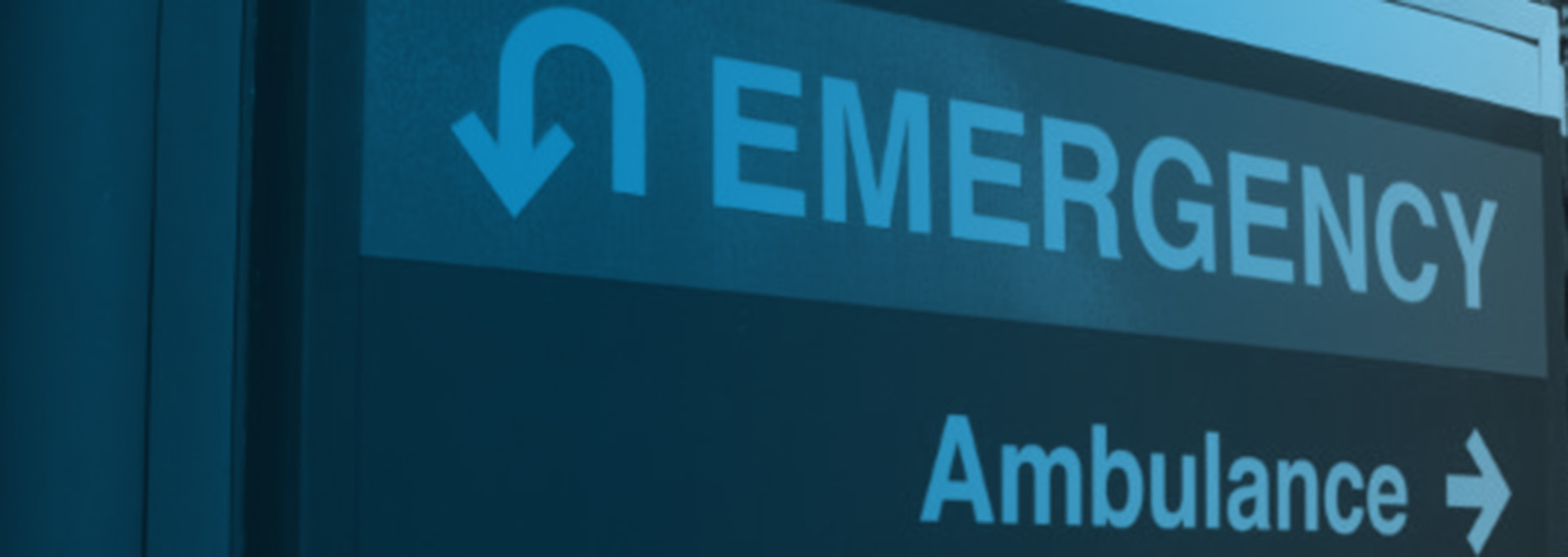 Emergency Room Sign for hospital rotator