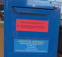 A secure medicine return kiosk