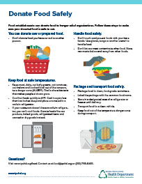 Donate food infographic