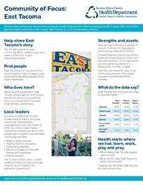 Community of Focus: East Tacoma