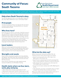 Community of Focus: South Tacoma