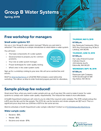 Group B water systems newsletter