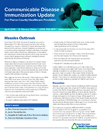 Communicable disease newsletter