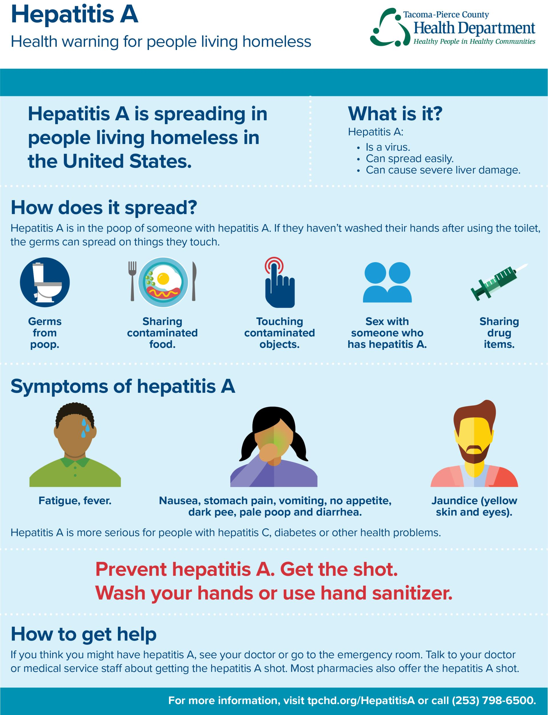 Hepatitis A: Health warning for people living homeless. Hep A is spreading in people living homeless in the U.S.