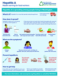 Hepatitis A for food workers