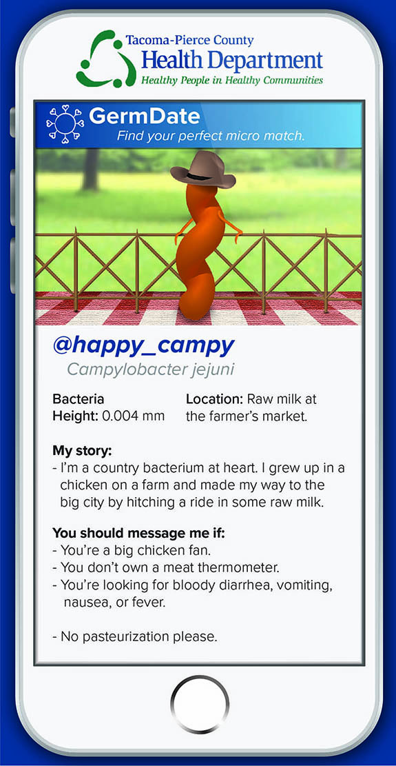 happy_campy I'm a country guy at heart. I grew up in a chicken on a farm and hitched a ride in some raw milk. Message me if: You're a big chicken fan. You don't own a meat thermometer. You're looking for bloody diarrhea, vomiting, nausea, or fever. No pasteurization please.