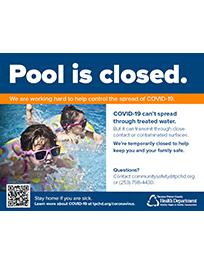 COVID-19 Pool Closed Sign