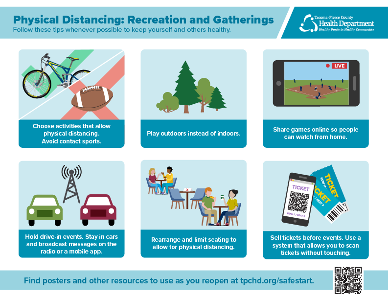 COVID19 Reopening guidance for recreation and gatherings